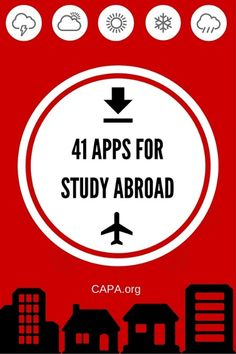 We've rounded up 41 apps for your study abroad trip!