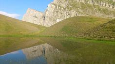 Reflections in Drakolimni, lake in Northern Greece