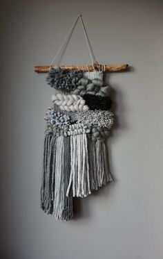 New Pics tapestry weaving woven wall hanging Concepts A wooden stick is differ. ________ This tapestry is related to nature and combines in an original w Weaving Loom Diy, Weaving Art, Tapestry Weaving, Hand Weaving, Weaving Wall Hanging, Tapestry Wall Hanging, Hanging Art, Wall Hangings, Macrame Design