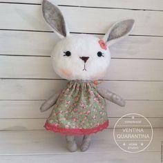 Зайка Марта цветочная - серый, зайка, зайка девочка, зайчик, заяц игрушка