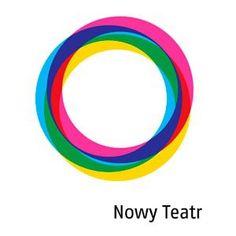 Nowy Teatr logo Circle Rainbow, Circular Logo, Logo Design Inspiration, Paths, Pride, 1, Coding, Branding, Symbols