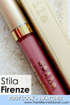 Stila Firenze Liquid Lipstick First Look Swatches