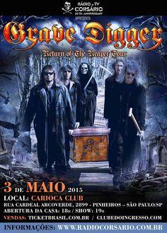 Grave Digger confirma show em São Paulo