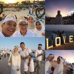 It's romantic it's emotional very beautiful indeed once again congratulation ka @ichalinggih & mas mahendra! #wedding #beachparty #whiteparty by syahidahrilyadi