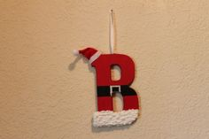Christmas ornament Handpainted Santa letter by PineknotCreations