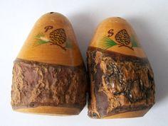 Vintage Salt and Pepper Shakers Wood Shakers by VintagePlusCrafts, $6.00