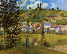The Hay Wagon, Montfoucault - Camille Pissarro - WikiPaintings.org