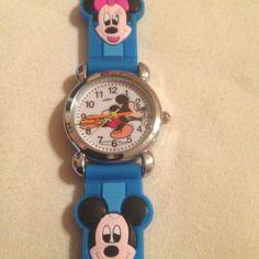 New Lt Blue Mickey Mouse Minnie Mouse Boys/ Girls Watch 3-D #CartoonIdol