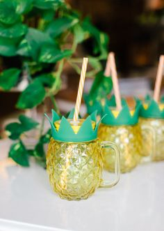 Cute Pineapple Mason Jar Drink Cup. Tropical Vibes. Vacation Please. Party Decor Ideas. Pineapples All Day.