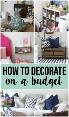 How to decorate on a budget. These are tips that anyone can implement to decorate like a boss.