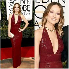 2016 GOLDEN GLOBES:  OLIVIA WILDE  #glamour #fashionstyle #fashion #style…
