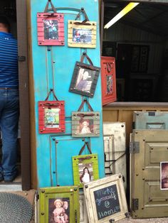 Repurposed into cute colorful picture frames! Colorful Picture Frames, Colorful Pictures, Cute Frames, Repurposed, Diy, Colorized Photos, Bricolage, Handyman Projects, Do It Yourself