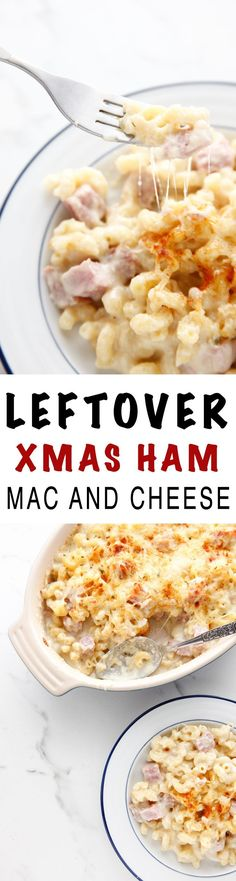 Leftover Ham Mac and Cheese is the perfect after Christmas leftovers meal!  via @thebrooklyncook