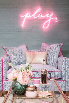 Behind the scenes on The Pink House's Primark shoot — The Pink House Rose Gold Decor, Pink Home Decor, Beach House Decor, Single Girl Apartment, Girls Apartment, Single Bedroom, Glamour Décor, Primark Home, Bachelorette Pad