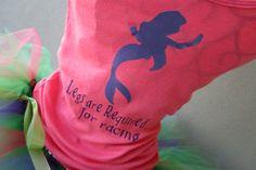 The shirt.. not the tutu. Running Tutu: Disney Princess Half Inspired Custom Pink Ariel Racing Tank and Pixie Length (9 inch) Tutu on Etsy, $54.95