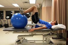 5 Ways to Help Injury-Proof Your Hips: Ball Bridge with Knee Flexion