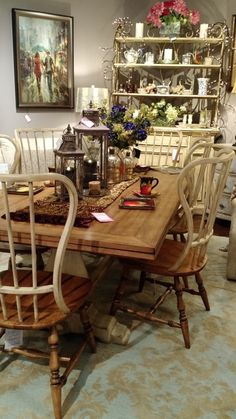 Look no further for an elegant dining room table! | Deloufleur Decor & Designs | (618) 985-3355 | www.deloufleur.com