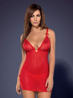 Romansia Chemise Rossa per San Valentino | Obsessive Lingerie