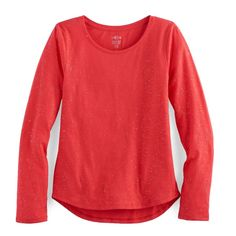 Girls 7-16 & Plus Size SO® Core Tee, Size: 12 1/2, Med Red