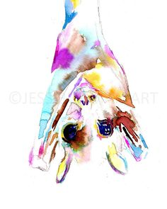 Bat Watercolor Painting Print Bat Painting by ArtbyJessBuhman