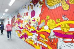 We love bright colours!   Nice space this one at the Commonwealth Bank call-centre