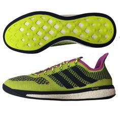 SALE  119.95 - Adidas Primeknit Boost Indoor Soccer Shoes (Solar Yellow  White Collegiate Navy)  37fd3f9b56143