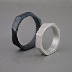Jewelry For Sale Online Black Wedding Rings, Black Rings, Silver Rings, Sterling Silver Cross Pendant, Sterling Silver Jewelry, Oxidized Silver, Silver Jewellery, One Ring, Ring Verlobung