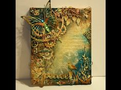 "▶ Mixed Media Canvas Tutorial ""Peace"" - YouTube"