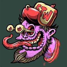 Kustom Kulture / Hot Rod inspired Illustrations - done with Adobe Ideas on iPad. Graffiti Art, Graffiti Doodles, Art And Illustration, Character Illustration, Doodle Art, Garage Art, Lowbrow Art, Cartoon Art, Graphic