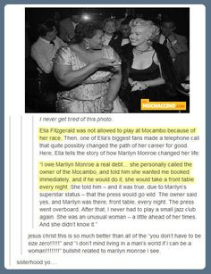 A woman ahead of her times…oh man Marilyn