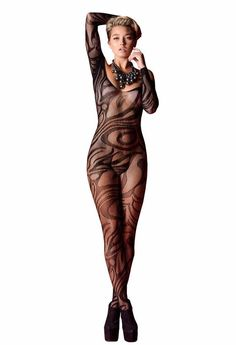 Dangerous Curves Black Seamless Body Stocking