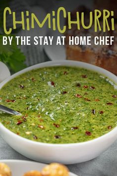 This easy to make Chimichurri Sauce is perfect to use as a marinade or to accompany beef and grilled meats. Full of fresh herbs and tangy vinegar, it brings a zesty flavor with a tiny hint of heat. Stay At Home Chef, Bbq Pork Ribs, Pork Rib Recipes, Homemade Sauce, Chimichurri, Grilled Meat, Other Recipes, Fresh Herbs, Mexican Food Recipes