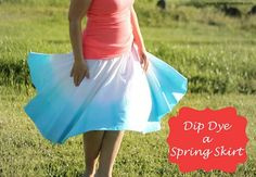 spring skirt dip dyed! Diy!