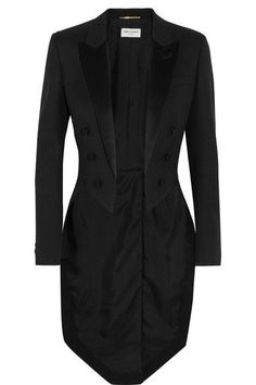 Saint Laurent - Silk Satin-trimmed Wool Tuxedo Blazer - Black - FR44
