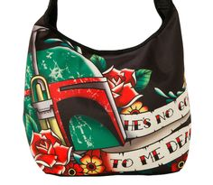 Boba Fett Tattoo Hobo Bag