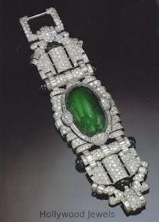Marlene Dietrich's  Trabert & Hoeffer-Mauboussin emerald and diamond bracelet.