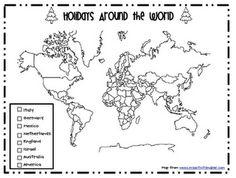holidays around the world map to print