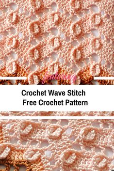 Crochet Ideas Unique Crochet Wave Stitch Free Pattern - Turn this fantastic crochet wave stitch into a great blanket, a fabulous scarf or a wonderful poncho. The airy fabric can be used to create amazing things. Crochet Quilt, Crochet Motif, Free Crochet, Knit Crochet, Crochet Patterns, Crochet Ideas, Learn Crochet, Basic Crochet Stitches, Tunisian Crochet