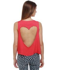 #DIY heart cut out shirt