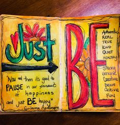 Art Journal inspiration, The Traveling Palace: Just Be
