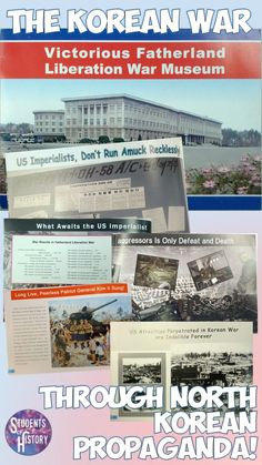 The Korean War as seen through propaganda from North Korea! Awesome hands-on lesson plan!