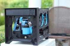 Custom Water Cooled Build: Corsair 250D. More info here - http://goo.gl/9IWQLM