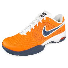 Men`s Air Courtballistec 4.1 Tennis Shoes Orange White Tennis Gear 3c9f1d34d2355