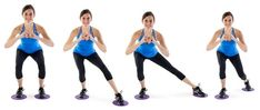 Gliding-Squatted-Leg-Circles_ALL Source by tolatys body workout Slider Exercises, Thigh Toning Exercises, Toning Workouts, Toning Thighs, Thigh Workouts, Slide Workout, Barre Workout, Toned Legs Workout, Leg Circles