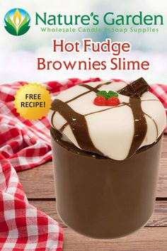 Free Hot Fudge Brownies Slime Recipe by Natures Garden.