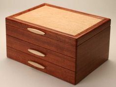 With a level of workmanship and value that is sure to be heirloom quality, this stunning jewelry box offers an elegant and sophisticated option for the arts-minded friend, relative, or spouse. Made in