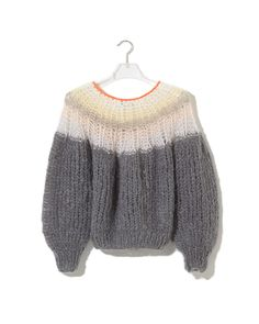 ad74a1a04d Maiami Pleated Sweater Gradient Grey Pullover Stricken, Pullover Strickjacke,  Strickjacken, Weichen Farben,