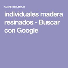 individuales madera resinados - Buscar con Google