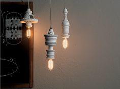 Suspension en céramique pour éclairage direct MEK 1 Collection Mek by Karman design Bizzarridesign