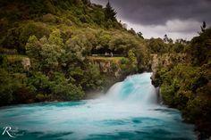 The Powerful Huka Falls. Taupo. North Island, New Zealand.